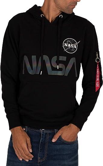 Alpha Industries NASA Zip Hoody Hoodies Sweatshirts Black