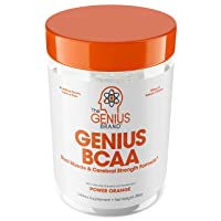Genius Bcaa Powder with Focus & Energy – Multiuse Natural Vegan Preworkout Bcaas...