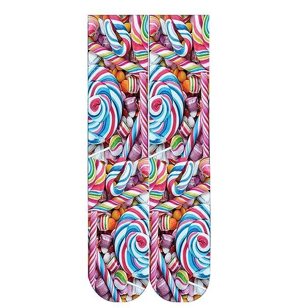 Morbuy Unisexo Adulto Calcetines, 3D Impresión Hombres y Mujer Dulces El helado Novedad Elástico Deportes Socks (A): Amazon.es: Ropa y accesorios