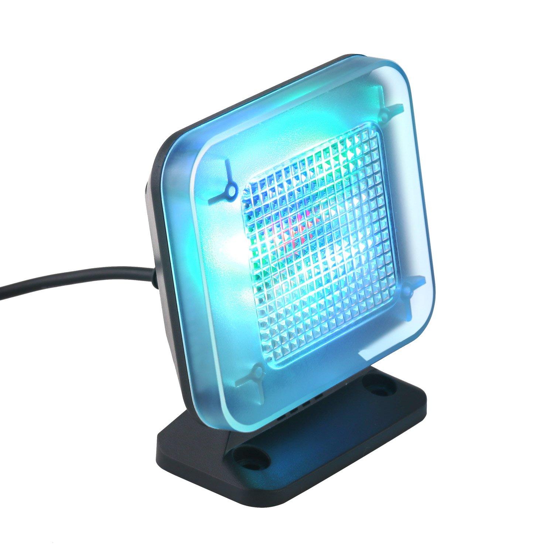 DECKEY Simulador de TV Suguridad de Hogar Con Sensor Crepuscular y temporizació n TV 12 LED con 3 Modo de Luz Proporciona Seguridad antirrobo Decky