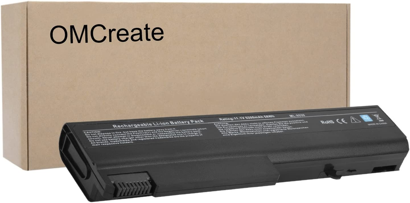 OMCreate Battery Compatible with HP EliteBook 8440P 6930P 8440W ProBook 6550B 6455B Compaq 6730B 6735B 6530B, fits P/N 482962-001 HSTNN-UB69 KU531AA - [Li-ion 6-Cell]