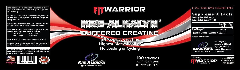 Amazon Kre Alkalyn Buffered Creatine Powder 100 Servings Ph
