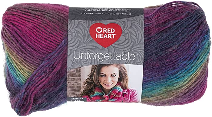 RED HEART Unforgettable Waves Yarn, Stained Glass