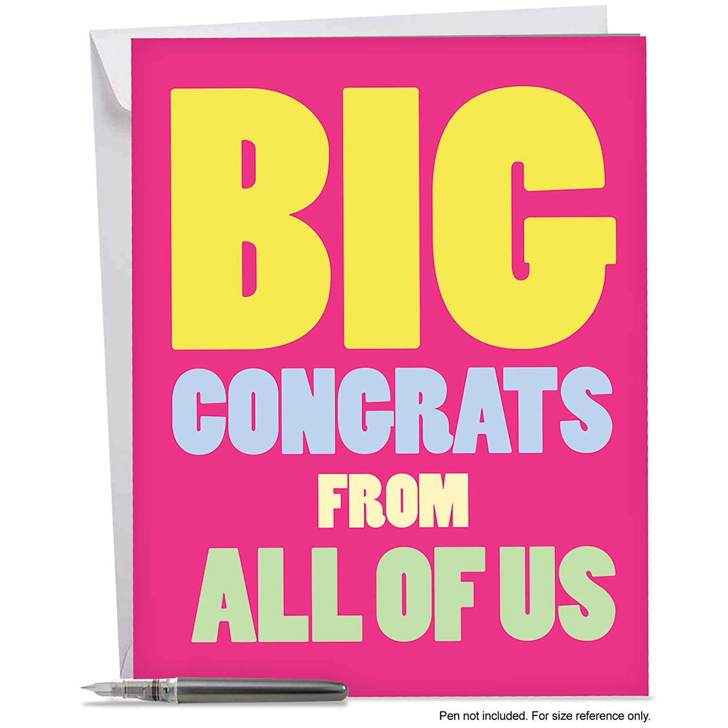 Amazon Big Congrats From Us Greeting Card Wenvelope A