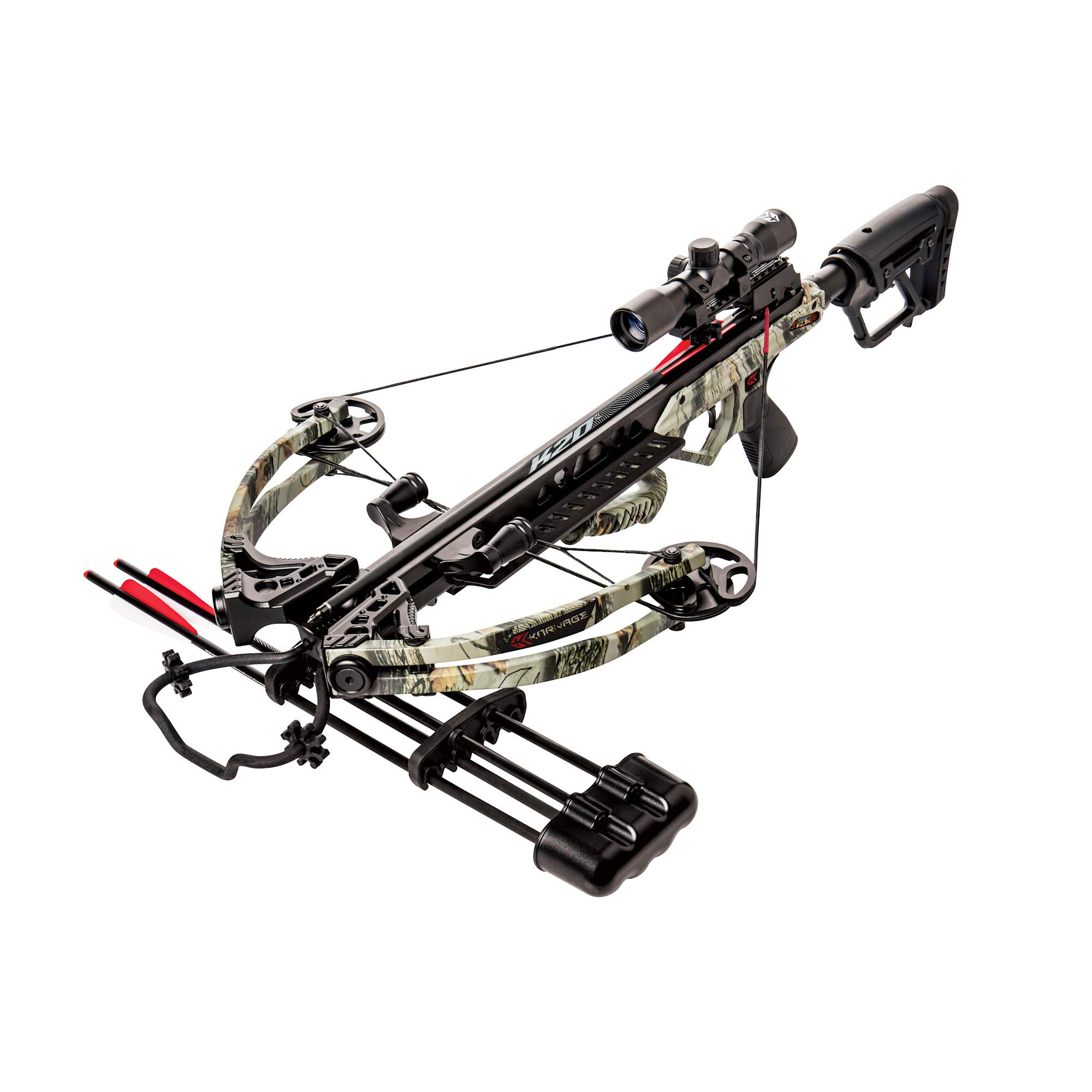 Karnage Apocalypse Crossbow Package Includes Arrows, Quiver, Detachable Sling, Wax, Cocking Rope, and Scope by Bear Archery
