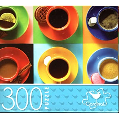 Colorful Coffee Cups - 300 Piece Jigsaw Puzzle: Toys & Games