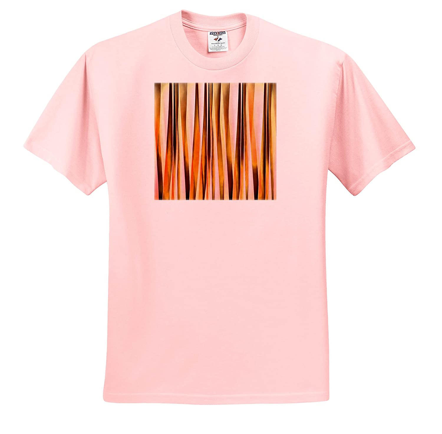 db56bbd4dac0 Taiche - Acrylic Painting - Abstract - Orange Brown and Peach Autumn Stripy  Lines Pattern - T-Shirts - Light Pink Infant Lap-Shoulder Tee (18M) ...