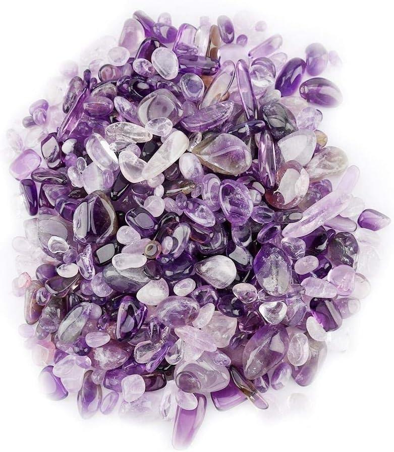 GXMZL Kit de sanación con Cristales - 3 Color, tamboleado Piedra machacada Chips Natural del Cristal de Cuarzo Piezas (Color : Purple)