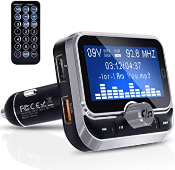 Car FM Transmitter Wireless Radio Adapter USB Car Charger /&Remote US