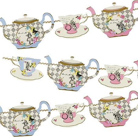 Alice in Wonderland Quote Bunting Tea Party Decoration,Garland,Birthday,Wedding