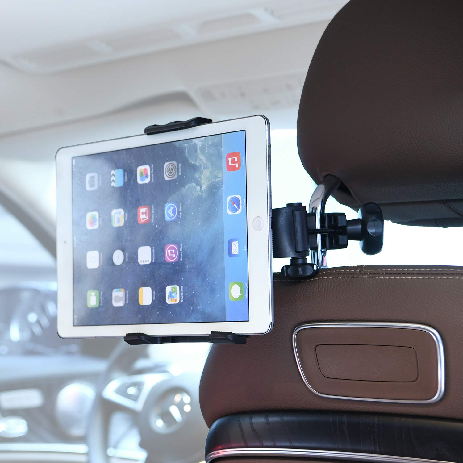 Moukey Mmsph-1 Microphone Stand//Headrest in the car Tablet Mount for Apple iPad iPad full range Samsung Galaxy Tab Surface Pro//Book /& iPhone XR XS MAX X 8 7 Plus 6S Galaxy S9 Note LG V30 Smartphones