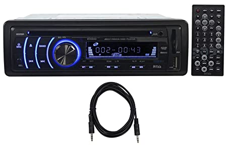 Boss BV6652 In Dash Car DVD MP3 Player Receiver AM FM Radio w USB SD AUX Cable