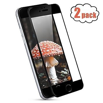 NONZERS 2-Unidades Protetor de Pantalla para iPhone 8 iPhone 7, Protector de Cristal Vidrio Templado,9H Dureza,Alta Definición,3D Touch Compatibles ...