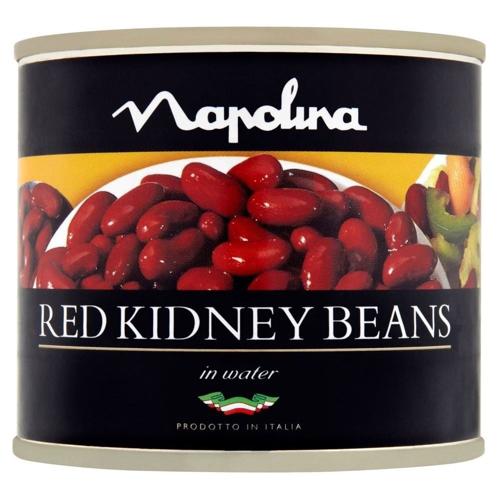 Napolina Red Kidney Beans in Salted Water with Added Sugar (220g) - Pack of 6