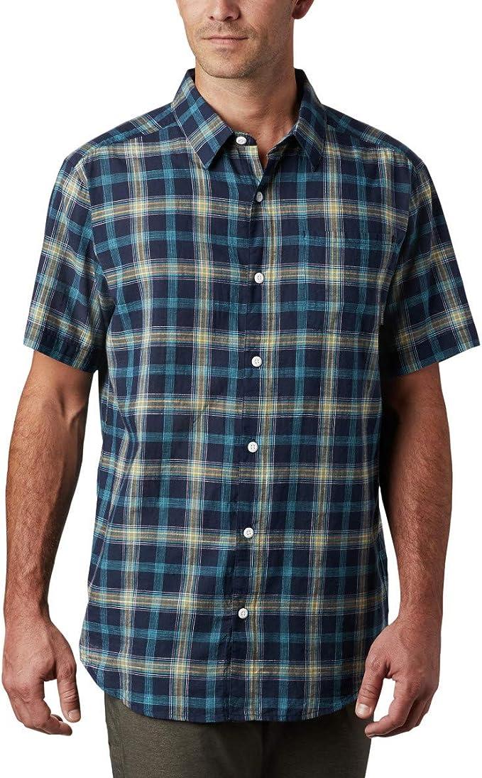 Columbia 哥伦比亚 Under Exposure 男式格纹短袖衬衫 XL码3.4折$16.88 海淘转运到手约¥134