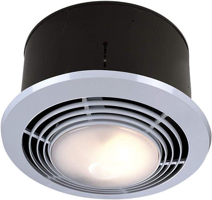 best bathroom heater: Broan-NuTone 9093WH Exhaust Fan, Heater, and Light Combo, Bathroom Ceiling Heater, 1500-Watts, 70 CFM, White