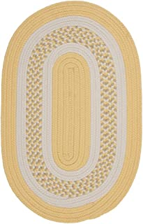product image for Flowers Bay Round Area Rug, 4-Feet, Yellow