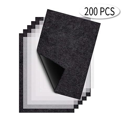amazon com aiex 100 sheets black carbon copy paper plus 100 sheets