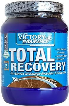 Victory Endurance Total Recovery. Maximiza la recuperación después del entrenamiento. Enriquecido con electrolitos y vitaminas. Sabor Chocolate (750 ...