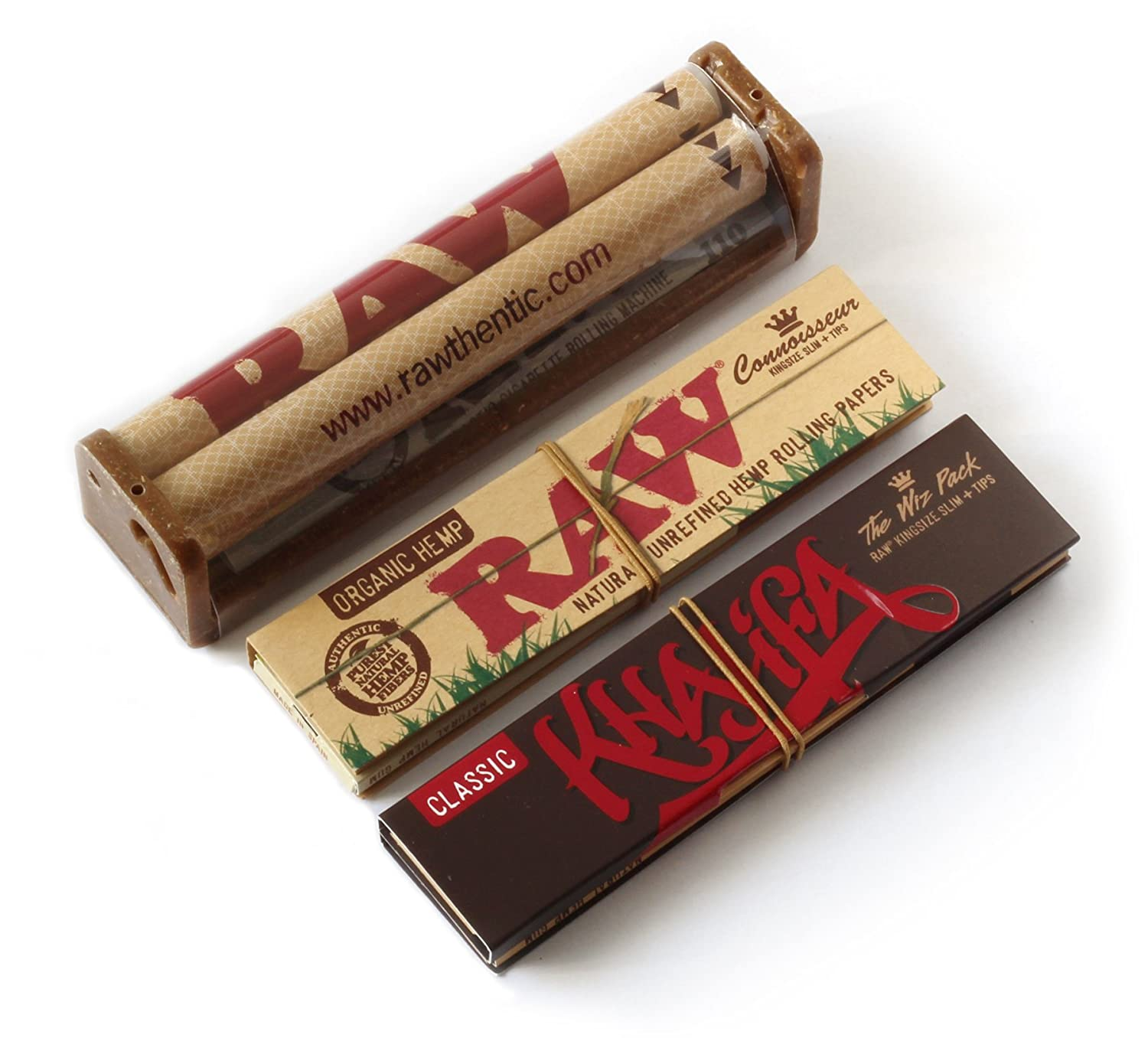 New Product From Raw Tips - 3 Booklets by Trendz RAW King Size Slim Connoisseur Rolling Papers The Wiz Pack Wiz Khalifa