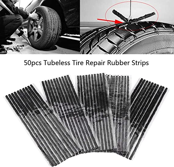 for Cars 100mm x 6mm Tire Repair Strings Rubber Strips,Tire Repair Plugs AIYUE Pack of 100 Tire Repair Strings