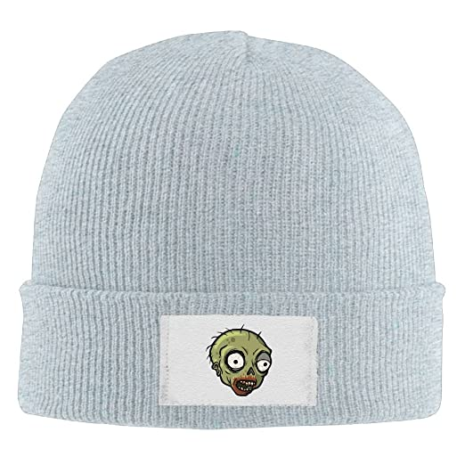 Men Women Zombie Warm Stretchy Knit Wool Beanie Hat Solid Daily Skull Cap  Outdoor Winter d8dea9bd5fd