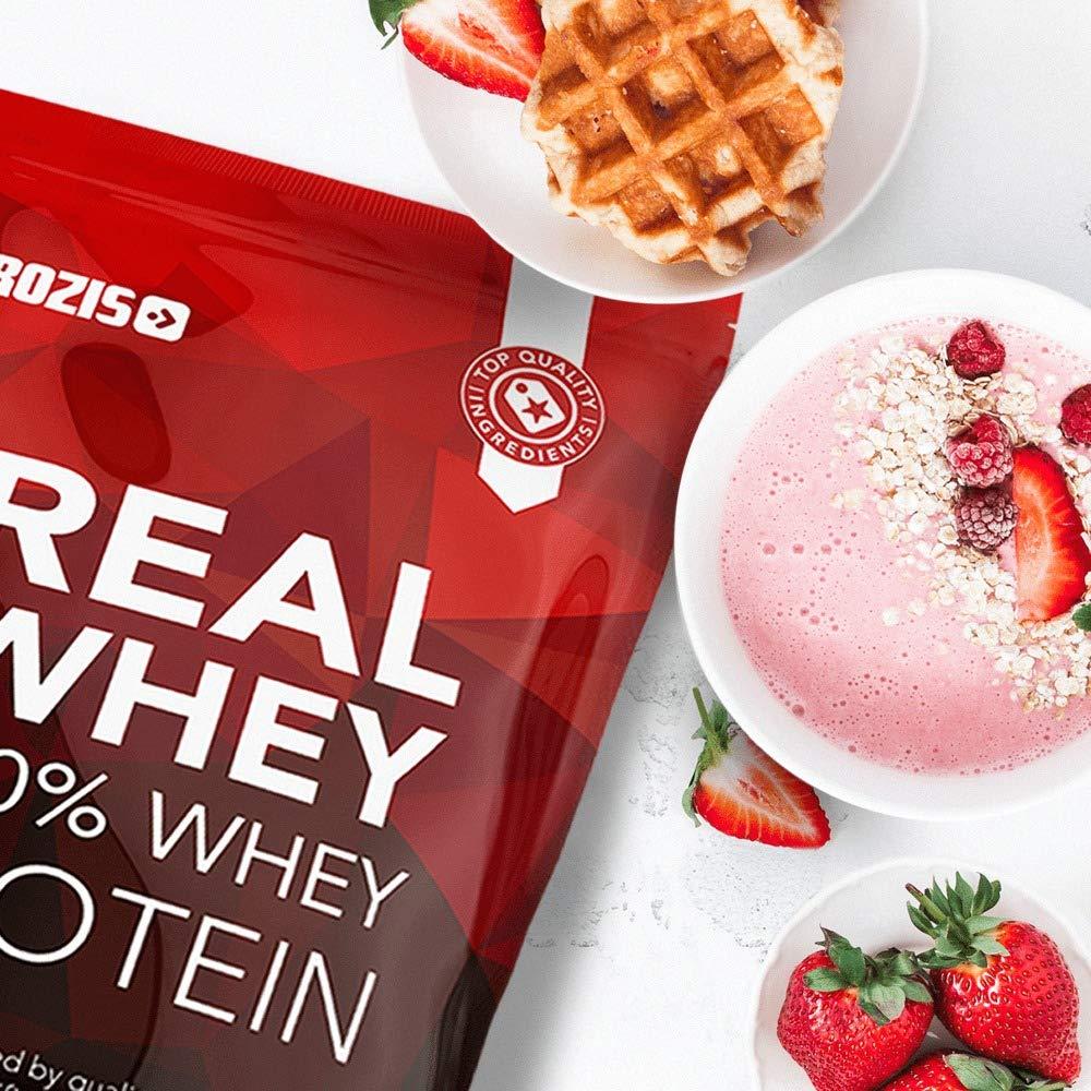 Prozis 100% Real Whey Protein, Suplemento Puro en Polvo con un Perfil Completo de Aminoácidos y Rico en BCAA, Plátano - 400 g