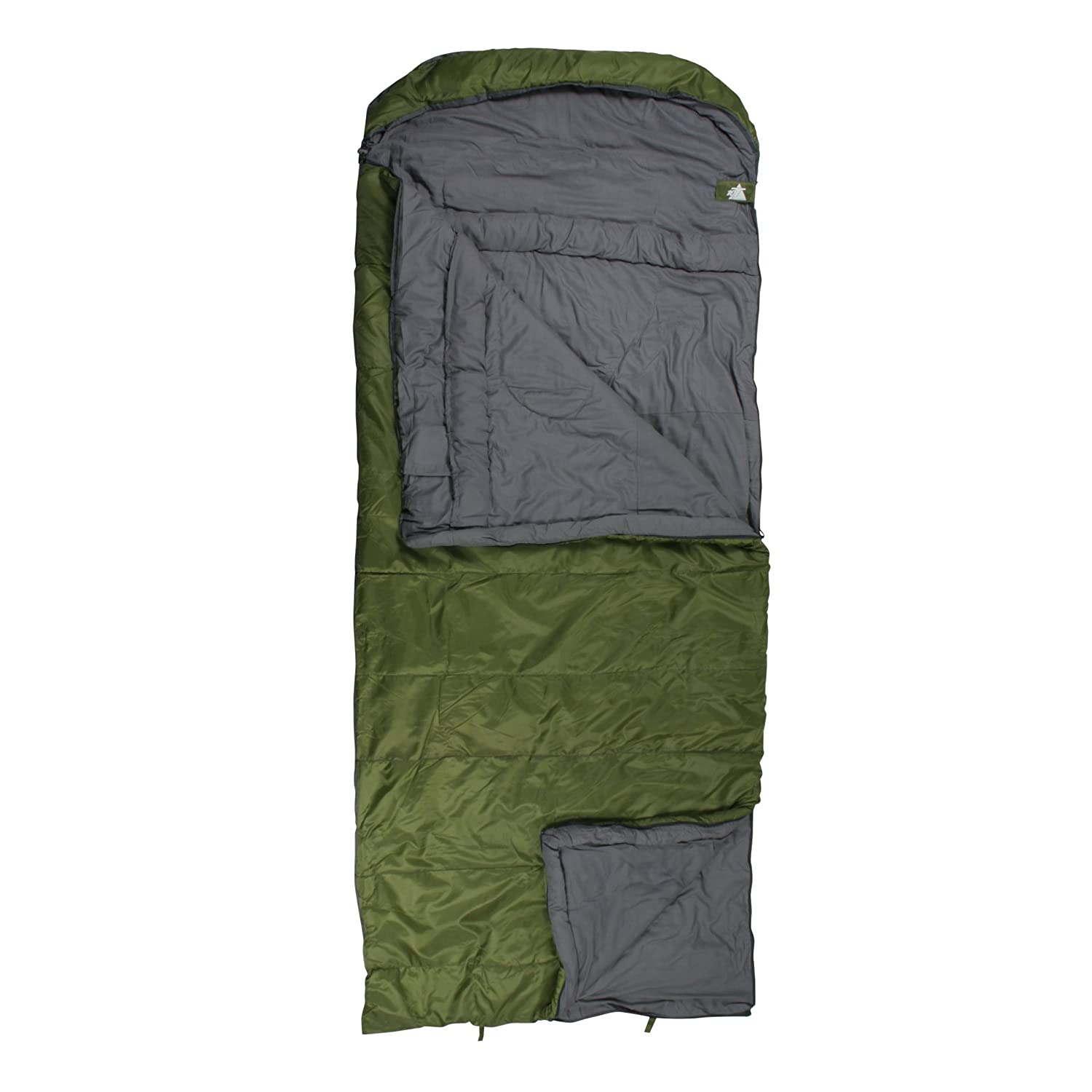 Amazon.com : OUTDOOR EQUIPMENT 10T 1062764054 Rectangular Sleeping Bag 1 Person Kenai Green/Grey by 10T : Sports & Outdoors