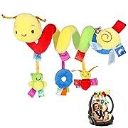 NUOLUX Kid Baby Crib Cot Pram Hanging Rattles Spiral Stroller Car Seat Toy with Ringing Bell