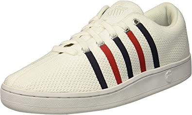 Classic 88 Knit Sneaker, White/Navy/red