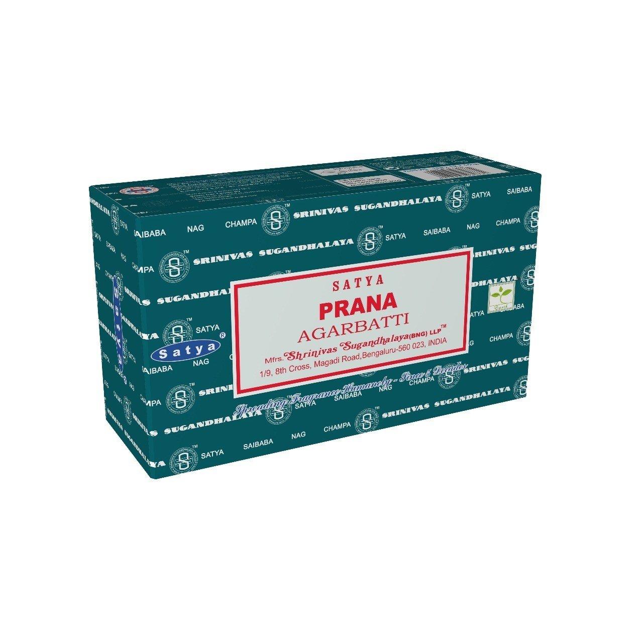 Satya Bangalore (BNG) Prana Incense Sticks 12 boxes x 15 g (180 grams total)