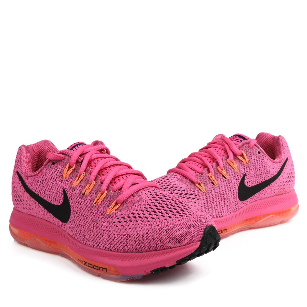 differently 6d366 ff1b5 Galleon - NIKE Women s Zoom All Out Low Running Shoes, 12 B(M) US, Fire Pink  Black - Bright Mango