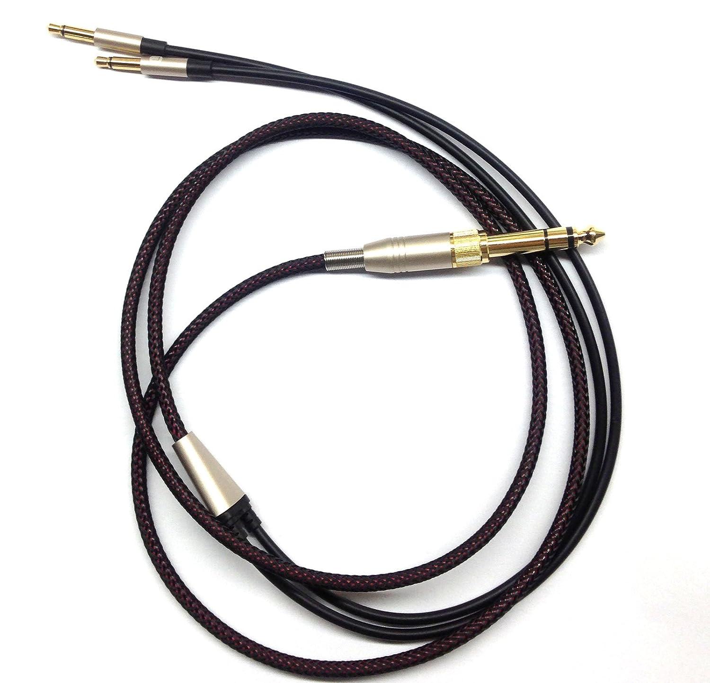 AH-D7100 Focal Elear Auriculares Negros de 1,5 Metros Meze 99 Classics AH-D5200 AH-D7200 Cable de Audio de Repuesto Compatible con Denon AH-D600 AH-D9200