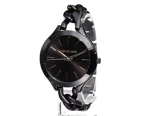 f90cbbd782eb Amazon.com  Michael Kors Women s MK3317 - Slim Runway Twist Black  Michael  Kors  Watches
