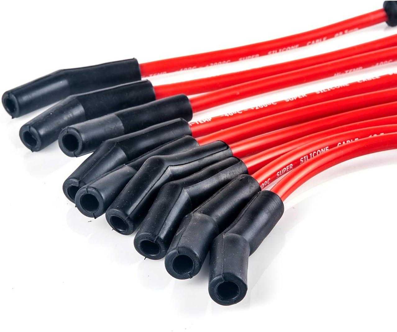 JDMSPEED New 10.5mm JDMSPEED LSx LS1 LS2 LS3 LS6 LS7 High Heat Spark Plug Ignition Wires Set
