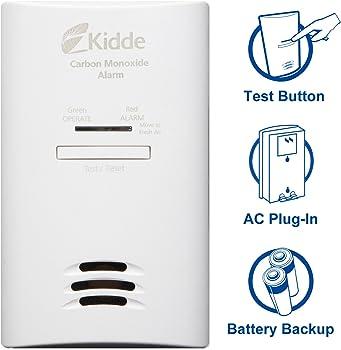 Kidde Tamper Resistant Plug-In Carbon Monoxide Detector Alarm