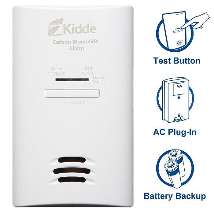 Kidde Tamper Resistant Plug-In Carbon Monoxide Detector Alarm with Battery Backup | Model KNCOB-DP2