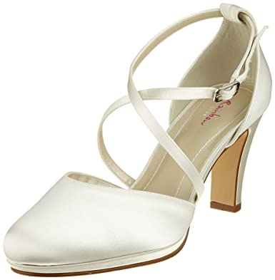 Rainbow Club Brautschuhe Olaila - Damen,Two Peace Pumps, Ivory Creme ... 707fe2a3d2