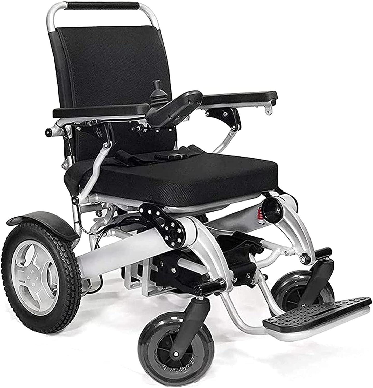 Silla de ruedas eléctrica plegable, silla de ruedas eléctrica plegable con batería de iones de litio de 500 W, control remoto auxiliar móvil, silla de ruedas eléctrica plegable para personas mayores