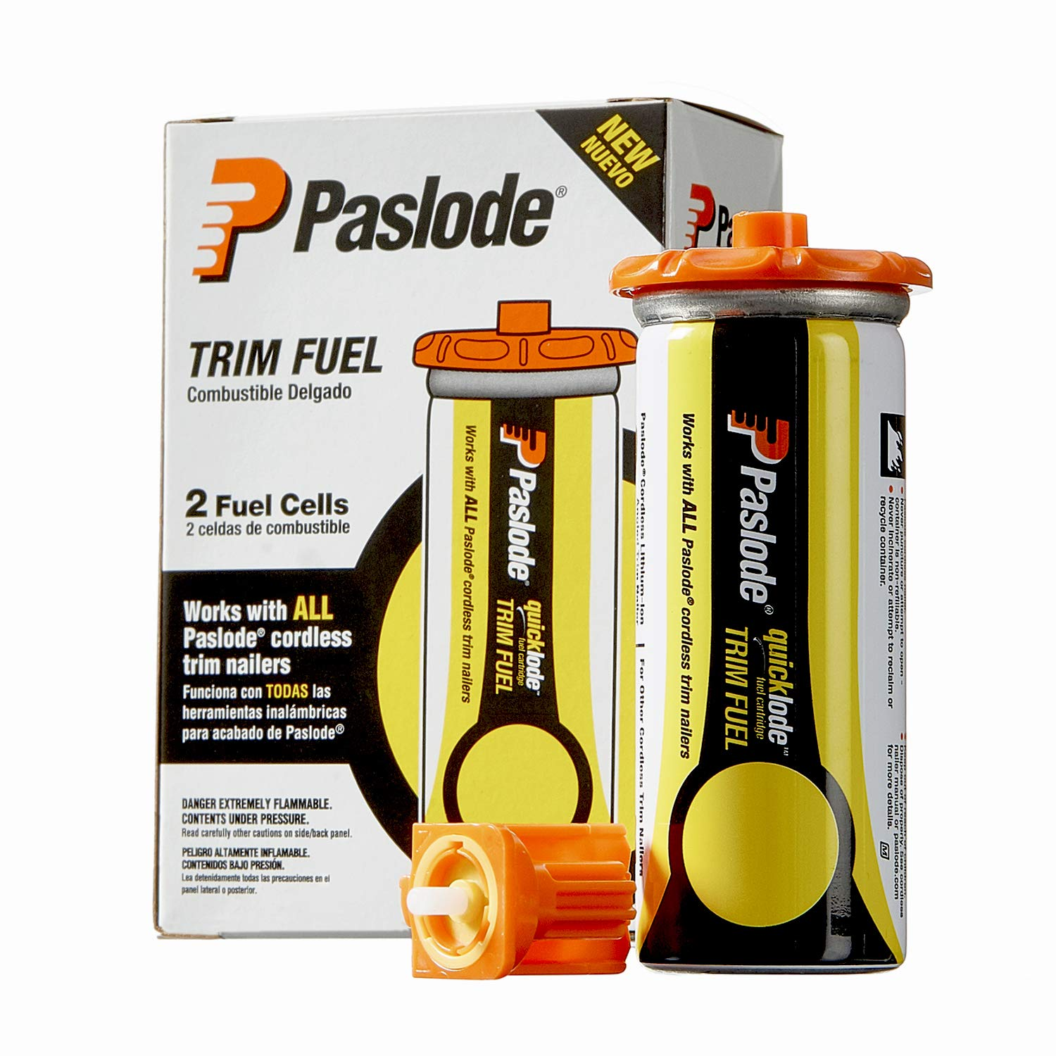 Paslode, Universal Short Yellow Trim Fuel, 816007, For Paslode Finish and Brad Nailers, 2 Pack