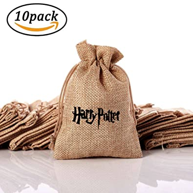 3d2e7c298 su ma Hessian Linen Jute Drawstring Gift Bags, Bolsas de arpillera con Tema  de Harry