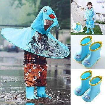 Amazon.com: Botas impermeables para niños con diseño de rana ...
