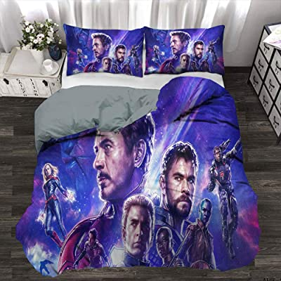 Boys Duvet Cover Bedding Set, Avengers Infinity War Captain America Ant Man Iron Man War Machine, Decorative 3 Piece Bedding Set with 2 Pillow Shams, Queen Size(90x90 Inch): Home & Kitchen