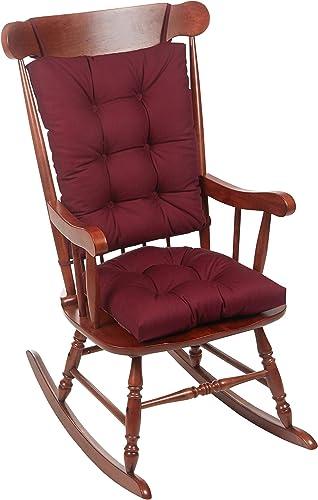 The Gripper Twill Jumbo XL Non-Slip Rocking Chair Cushion Set