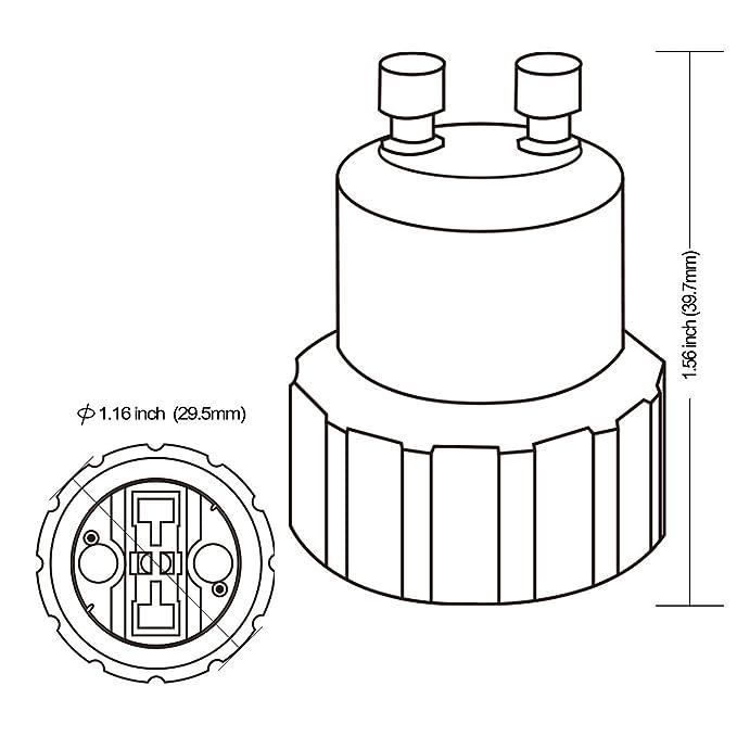 Gu10 To G9 Light Sockets Adapter Light Bulb Socket Bulb Base