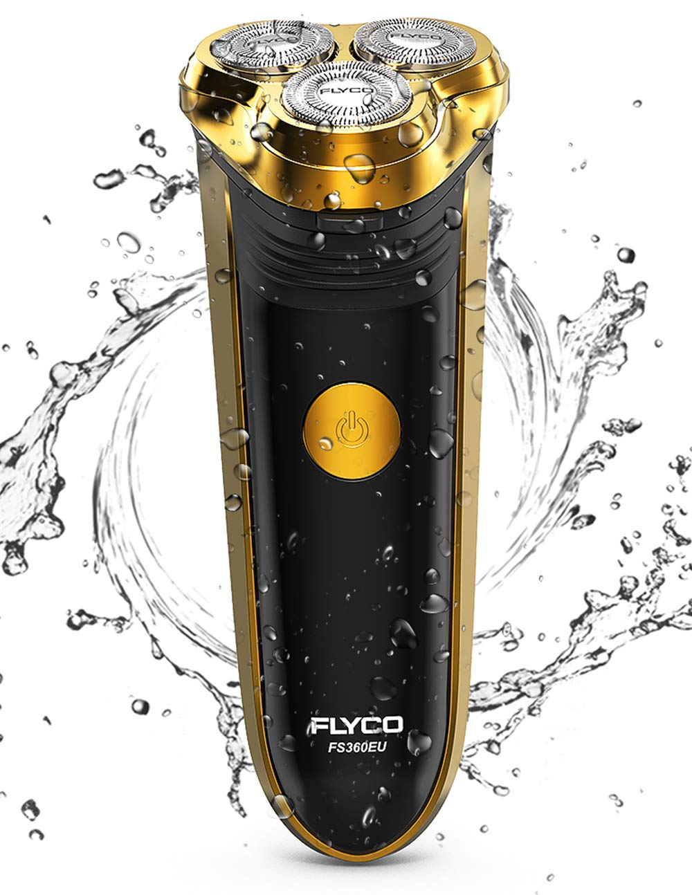 FLYCO Rasoio Elettrico Barba Uomo Ricaricabile con 3 Testine Rotanti