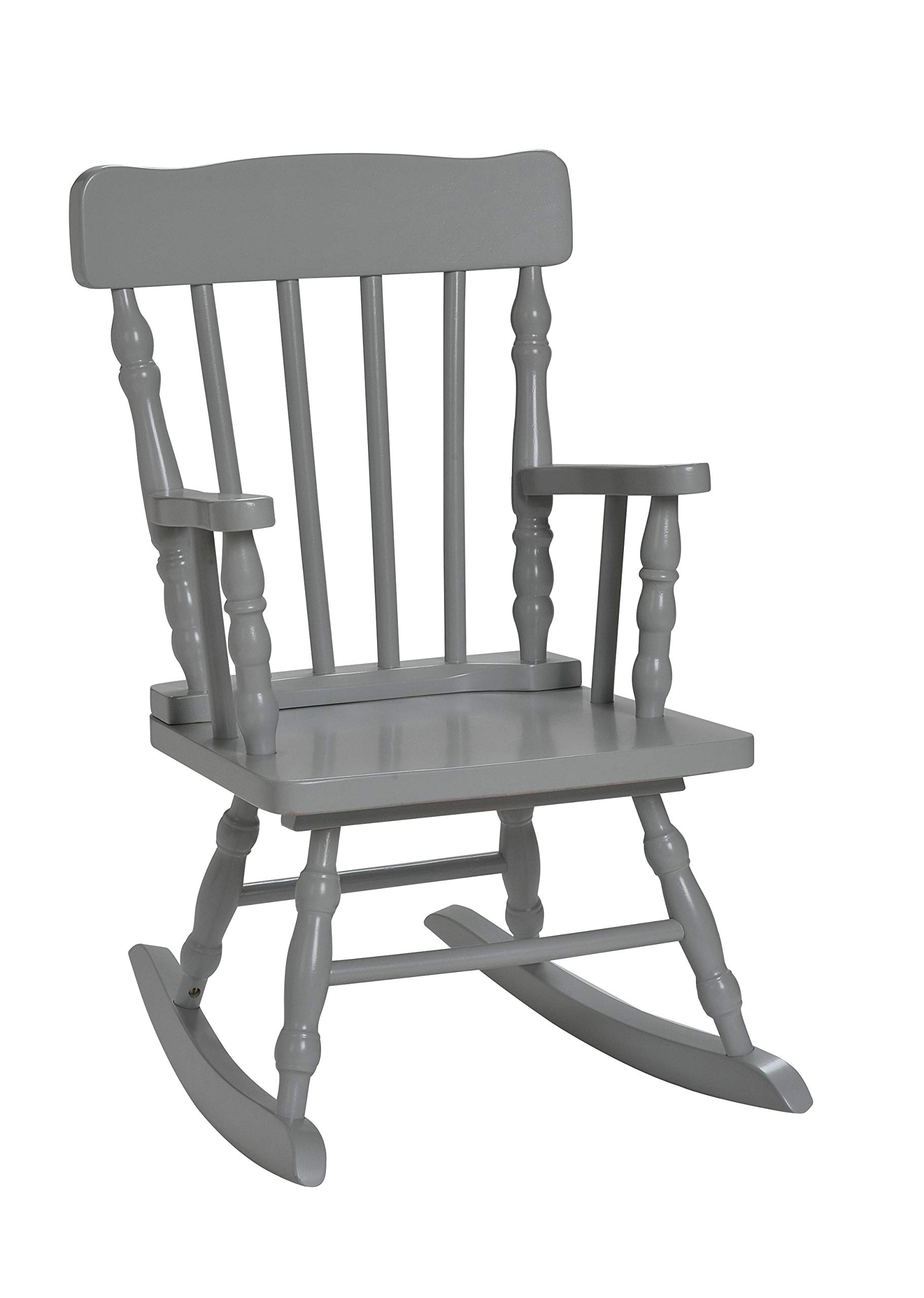 Gift Mark Child's Spindle Rocking Chair, Grey by Gift Mark