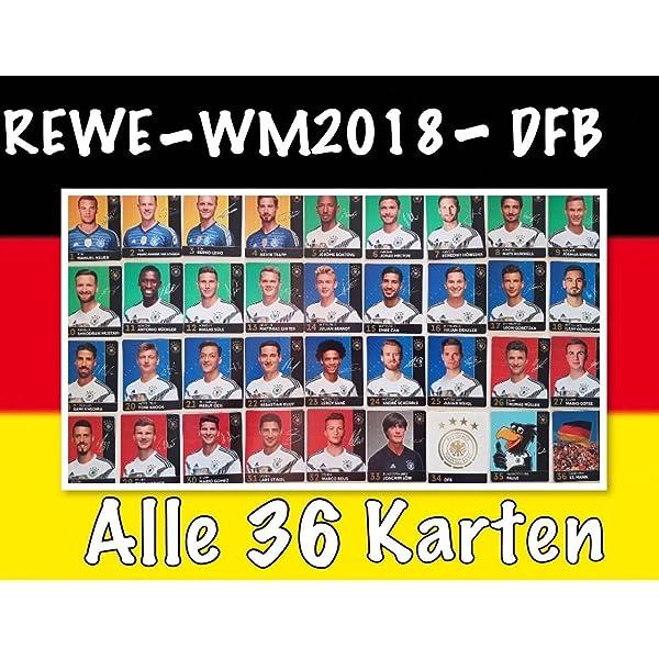 Satz 12 Figuren Fussball POPZ Rewe WM 2018 Deutsche Nationalmannschaft DFB