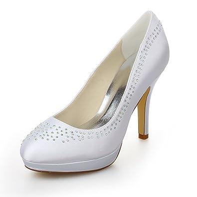 Fermé De Jia Chaussures Bout Pour Mariée Femme 37087 Talon 00KHqwA5