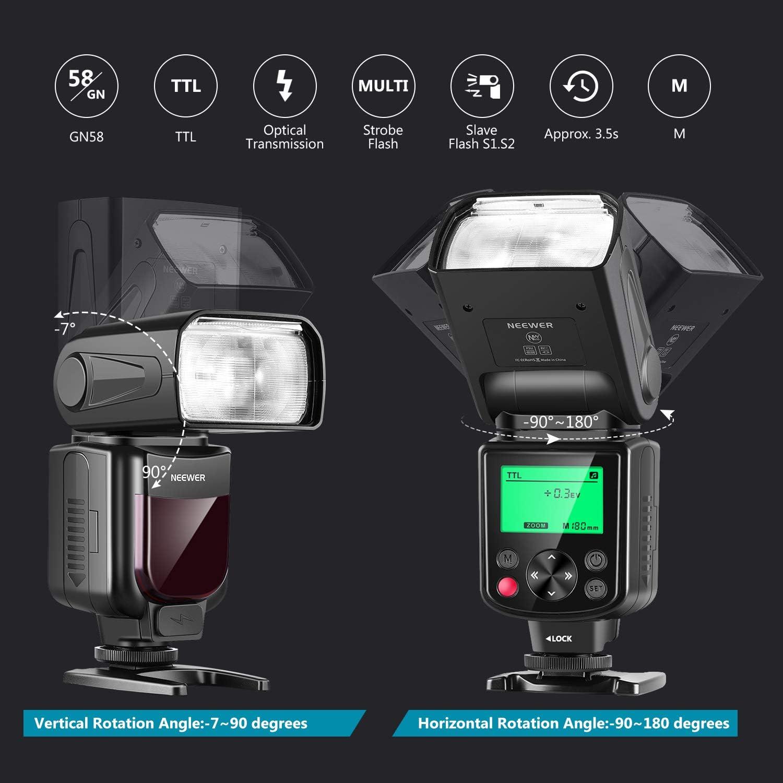 Neewer Nw635 Ttl Gn58 Blitzgerät Set Mit 2 4g Auslöser Kamera